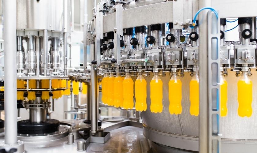 Turmosynth VG 46 TF для смазки конвейеров установок розлива в производстве напитков.